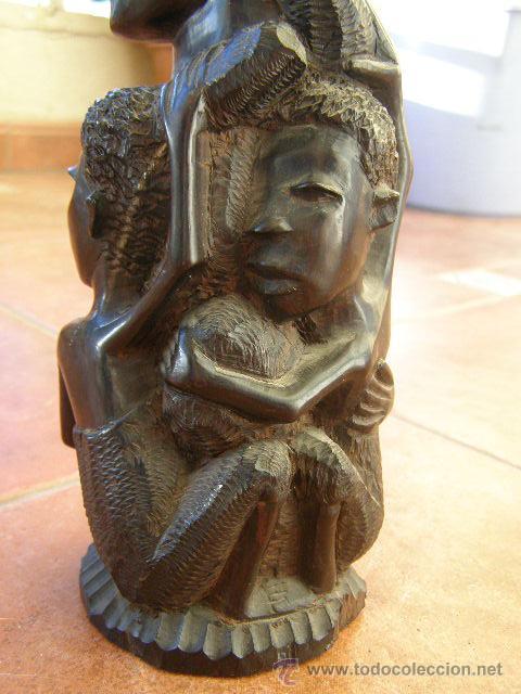 Arte: EXTRAORDINARIA TALLA EN EBANO. MAKONDO. TANZANIA. EL ARBOL DE LA VIDA. MEDIADOS SIGLO XX - Foto 2 - 45128680