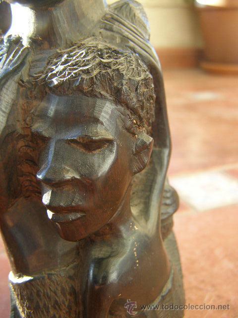 Arte: EXTRAORDINARIA TALLA EN EBANO. MAKONDO. TANZANIA. EL ARBOL DE LA VIDA. MEDIADOS SIGLO XX - Foto 3 - 45128680