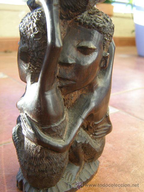 Arte: EXTRAORDINARIA TALLA EN EBANO. MAKONDO. TANZANIA. EL ARBOL DE LA VIDA. MEDIADOS SIGLO XX - Foto 4 - 45128680