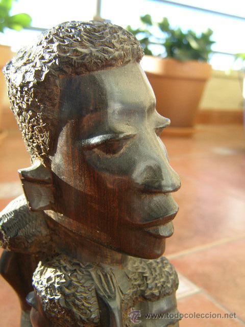 Arte: EXTRAORDINARIA TALLA EN EBANO. MAKONDO. TANZANIA. EL ARBOL DE LA VIDA. MEDIADOS SIGLO XX - Foto 5 - 45128680