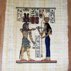 Arte: PAPIRO EGIPCIO CLEOPATRA PROCEDENCIA EGIPTO AÑOS 1970 APROX EGIPCIO OCULTISMO ESOTERISMO. Lote 45435653