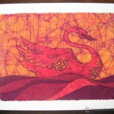 Arte: ORIGINAL BATIK DE TELA DE JUDY BARNARD. AÑOS 90 FIRMADO E IMPECABLE. Lote 45683090
