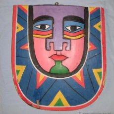 Arte: ANTIGUA CARETA DE MADERA 30X28 CM. Lote 45883770