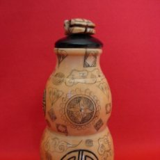 Arte: SENSACIONAL TABAQUERA CHINA. ORIGINAL SNUFF BOTTLE TALLADA EN HUESO.. Lote 46023692