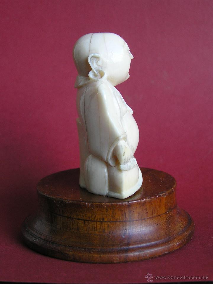 Arte: BUDA SONRIENTE . TALLA EN MARFIL. Primera mitad siglo XX . 39,5 gramos. - Foto 8 - 46121815