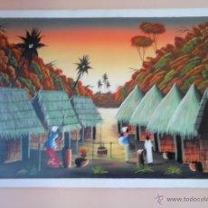 Arte: BONITA PINTURA CUADRO PAISAJE SENEGAL,COMPRADO DIRECTAMENTE AL ARTISTA,ES BELLISIA ESTA PINTURA ,VIS. Lote 46452338