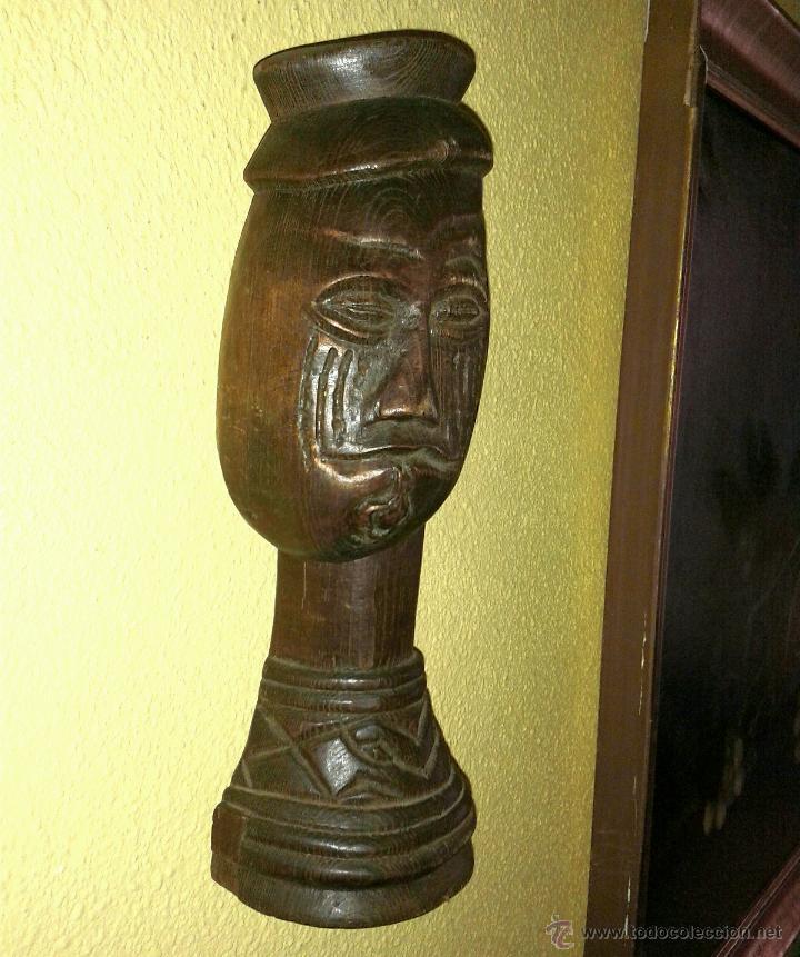 Arte: fantastico busto africano de madera noble 28 x 10 cmtrs. - Foto 4 - 46507786