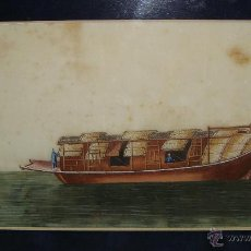 Arte: ANTIGUO PAPEL DE ARROZ CHINO. S.XVIII-XIX. ACUARELA.. Lote 46668541