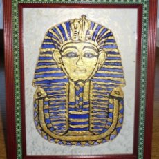 Arte: ANTIGUO CUADRO DEL FARAON EGIPCIO TUTANKAMON PINTADO A MANO SOBRE CRISTAL EN EL CAIRO EGIPTO. Lote 47239029