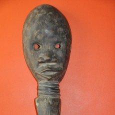 Arte: MÁSCARA DE AFRICA ANTIGUA Y ORIGINAL TALLADA EN MADERA DAN COSTA DE MARFIL. Lote 48806615