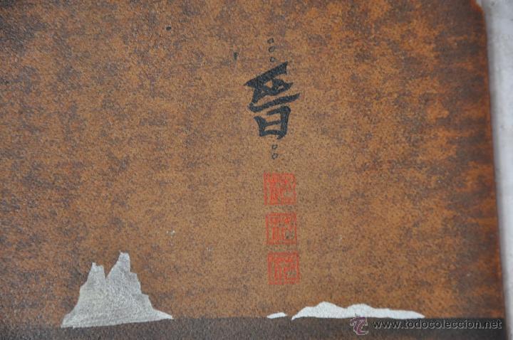 Arte: ACUARELA ORIGINAL JAPONESA PAISAJE FIRMADO - Foto 3 - 48871642