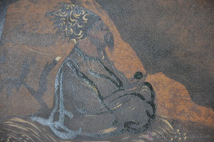 Arte: ACUARELA ORIGINAL JAPONESA PAISAJE FIRMADO - Foto 4 - 48871642