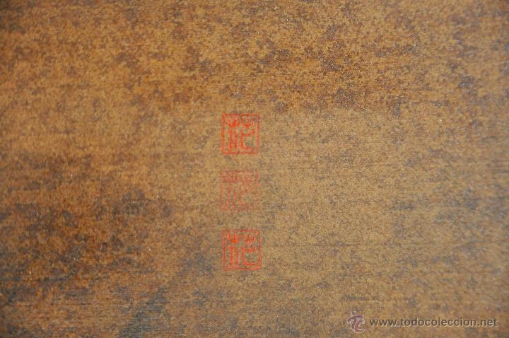 Arte: ACUARELA ORIGINAL JAPONESA PAISAJE FIRMADO - Foto 5 - 48871642