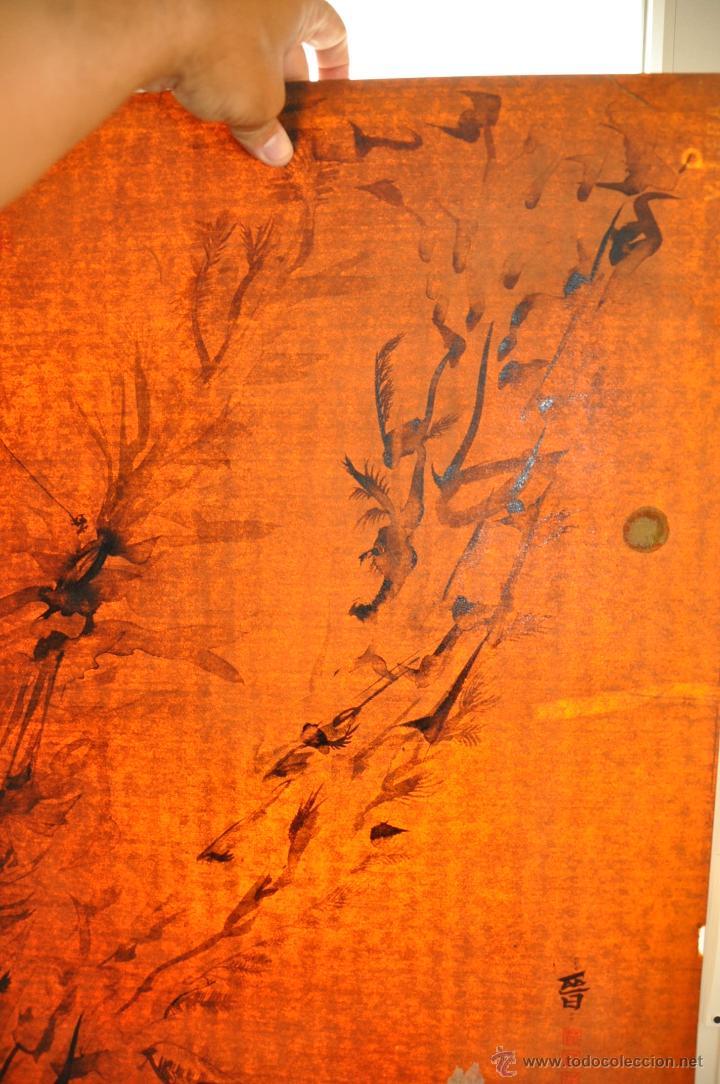 Arte: ACUARELA ORIGINAL JAPONESA PAISAJE FIRMADO - Foto 7 - 48871642
