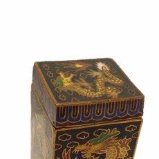 Arte: BONITA CAJITA MOTIVOS ORIENTALES ORIENTAL DE ESMALTE CLOISONNE Y LACA CHINA. Lote 48934803