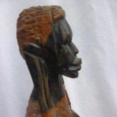 Arte: TALLA MUJER AFRICANA ESCULTURA MADERA DE AFRICA 30 CM. Lote 49123789