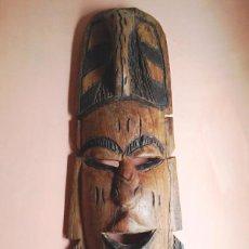 Arte: MASCARA ETNICA AFRICANA 48 X 16 CMTRS.. Lote 49176476