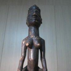 Arte: FIGURA AFRICANA FEMENINA: LUBA (ZAIRE/RDC). Lote 49277322