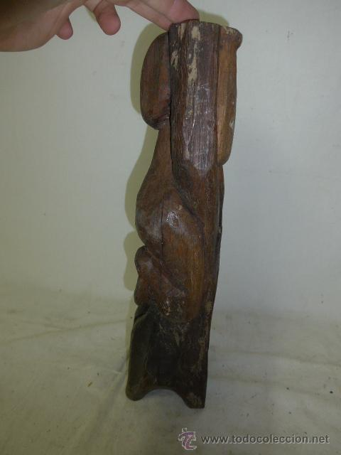 Arte: Antigua escultura fetiche africana de madera tallada, africa - Foto 3 - 49424493