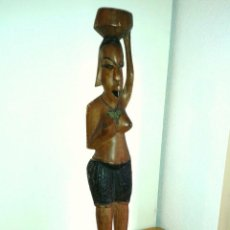 Arte: ANTIGUA Y GRAN FIGURA ESCULTURA AFRICANA 65 CMTRS.. Lote 49533130