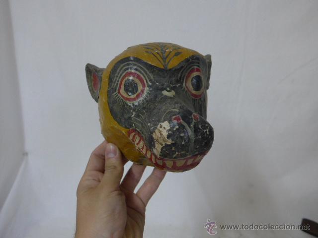 Arte: Lote de 3 antigua mascara de america latina - Foto 2 - 49567052