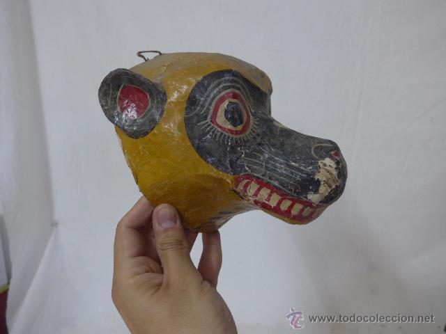 Arte: Lote de 3 antigua mascara de america latina - Foto 3 - 49567052