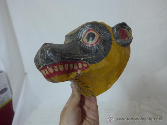 Arte: Lote de 3 antigua mascara de america latina - Foto 4 - 49567052