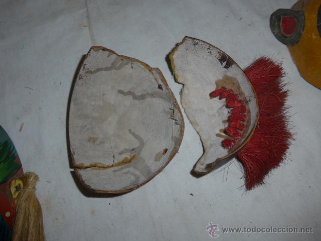 Arte: Lote de 3 antigua mascara de america latina - Foto 10 - 49567052
