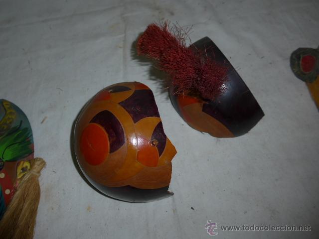 Arte: Lote de 3 antigua mascara de america latina - Foto 11 - 49567052