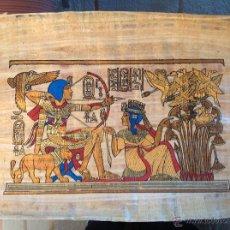 Arte: PAPIRO DE 44X34 CM COMPRADO EN EL CAIRO, EGIPTO.. Lote 49839175