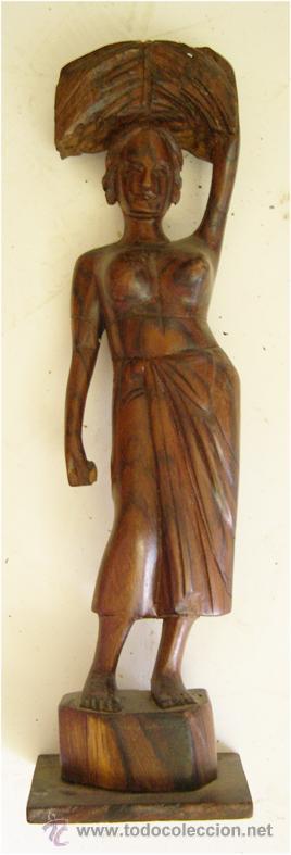 FIGURA AFRICANA TALLADA EN MADERA (Arte - Étnico - África)