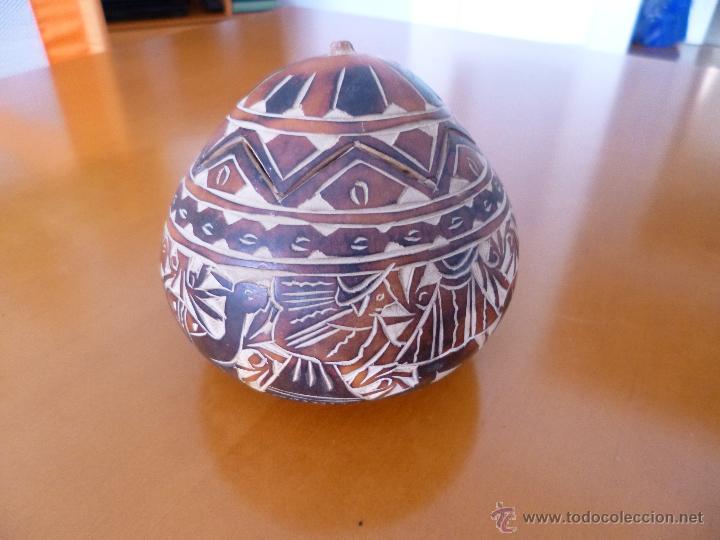 Arte: Calabaza tallada y policromada Sudamérica - Foto 2 - 50284454