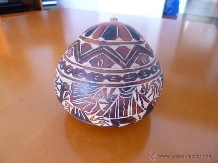 Arte: Calabaza tallada y policromada Sudamérica - Foto 4 - 50284454