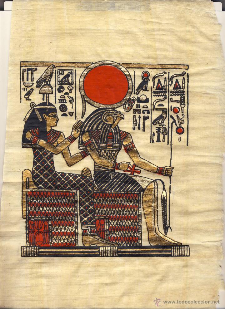 PAPIRO EGIPCIO.- (Arte - Étnico - África)