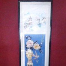 Arte: PANEL JAPONES EN MADRE PERLA. Lote 51014539
