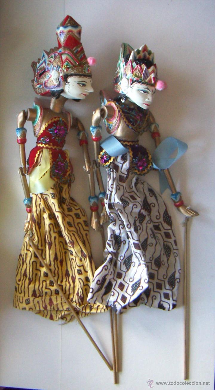 2 MARIONETAS DE MALASIA ARTESANAS (Arte - Étnico - Asia)
