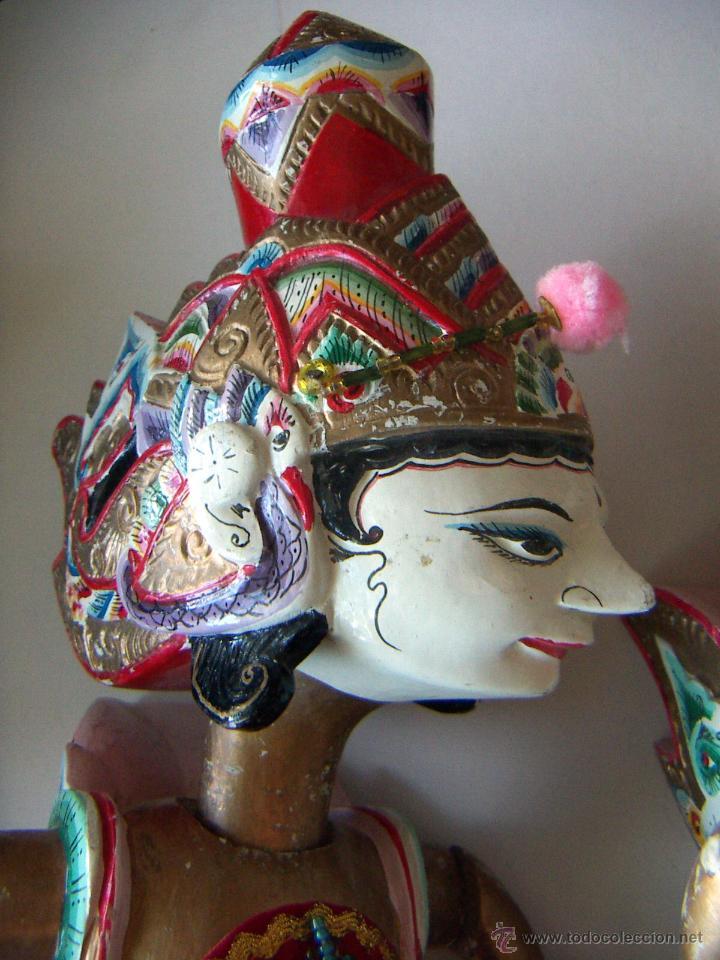 Arte: 2 marionetas de Malasia artesanas - Foto 2 - 51736616
