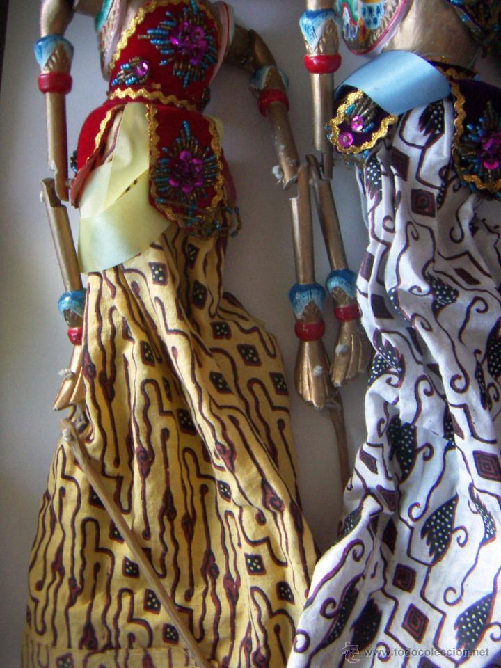 Arte: 2 marionetas de Malasia artesanas - Foto 4 - 51736616