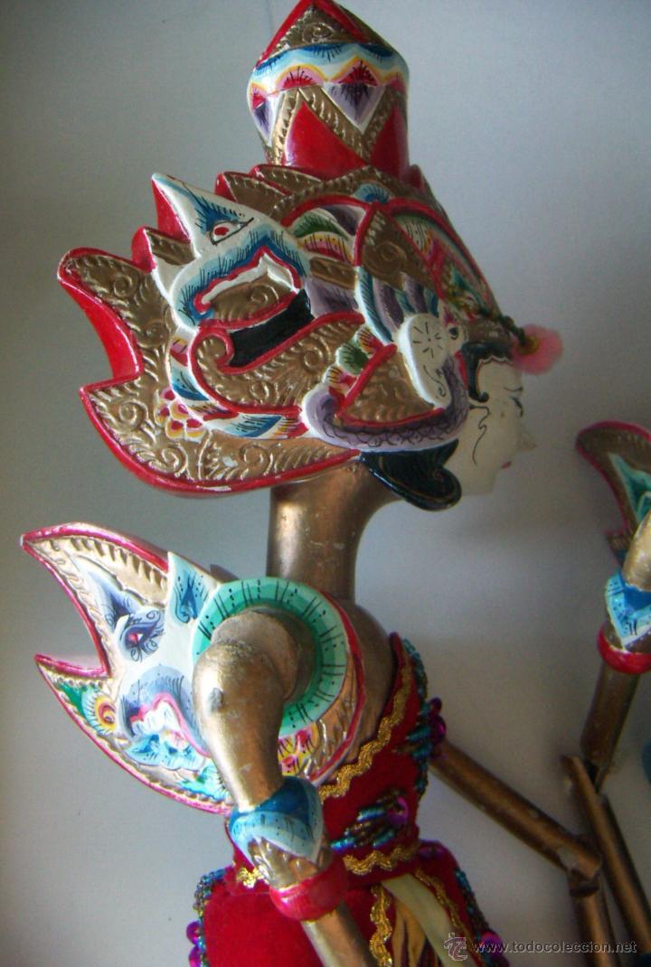 Arte: 2 marionetas de Malasia artesanas - Foto 5 - 51736616