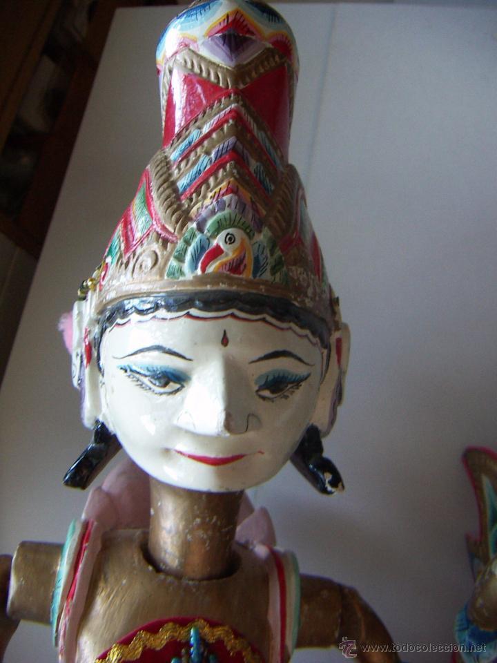 Arte: 2 marionetas de Malasia artesanas - Foto 6 - 51736616