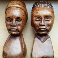 Arte: DOS ANTIGUAS TALLAS AFRICANAS EN MADERA. Lote 52003560