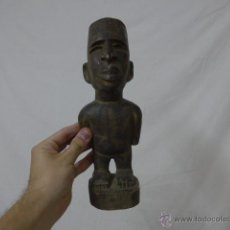 Arte: ANTIGUA ESCULTURA DE MADERA TALLADA AFRICANA, ORIGINAL, DE TRIBU DEL CONGO.. Lote 52189564