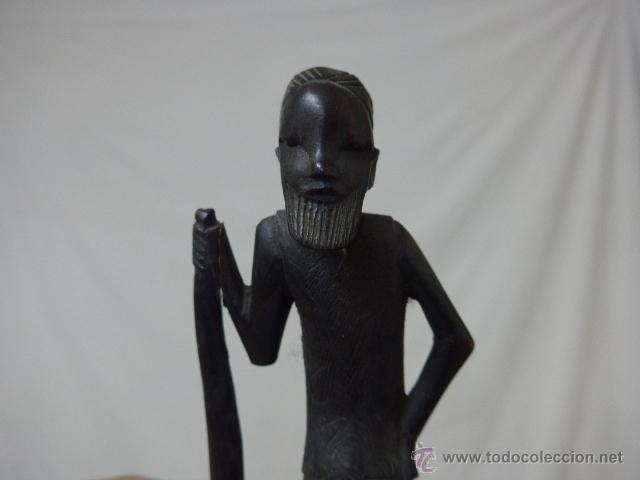 Arte: Antigua escultura de madera tallada africana, ebano, original, africa - Foto 2 - 52195253