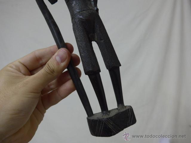 Arte: Antigua escultura de madera tallada africana, ebano, original, africa - Foto 3 - 52195253