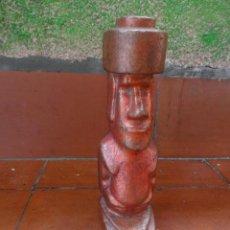 Arte: ANTIGUO MOAI DE COBRE DE LA ISLA DE PASCUA - AÑOS 60 - 70. Lote 52362260