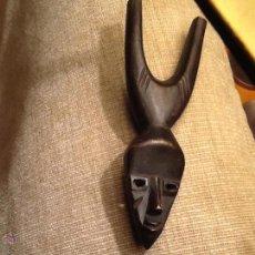 Arte: TIRACHINAS DE MADERA AFRICANO. TRIBU BAULE?. Lote 53475171