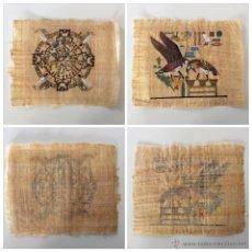 Arte: DOS PAPIROS AUTÉNTICOS Y ANTIGUOS PROCEDENTES DE EGIPTO EN PERFECTO ESTADO DE CONSERVACIÓN.. Lote 223309001