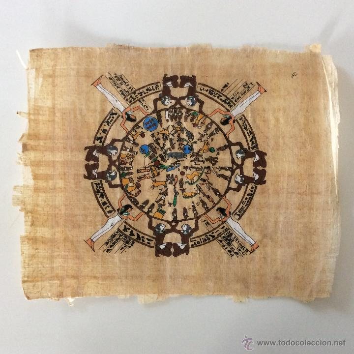 Arte: Dos PAPIROS auténticos y antiguos procedentes de Egipto en perfecto estado de conservación. - Foto 2 - 223309001