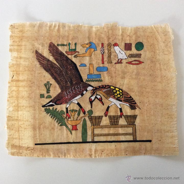 Arte: Dos PAPIROS auténticos y antiguos procedentes de Egipto en perfecto estado de conservación. - Foto 5 - 223309001