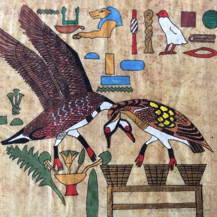 Arte: Dos PAPIROS auténticos y antiguos procedentes de Egipto en perfecto estado de conservación. - Foto 6 - 223309001